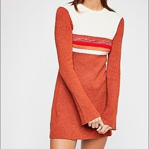 Free people color block bell sleeve sweater  Dress